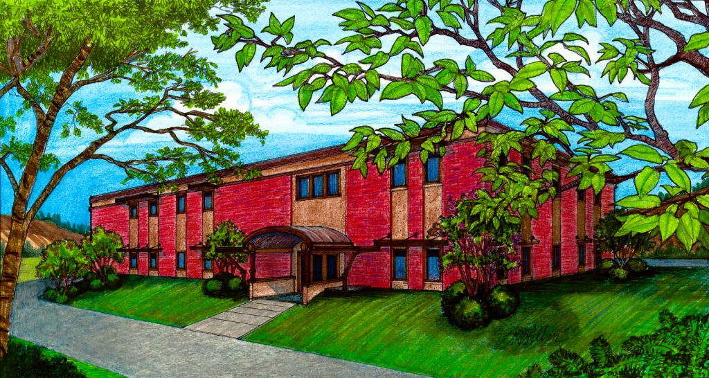 Artist's rendering of the new building for Sangre de Cristo Hospice and Palliative Care